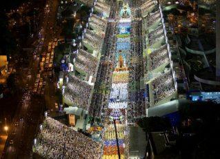 Imagem aérea da Sapucaí. Foto: Fernando Maia - Riotur
