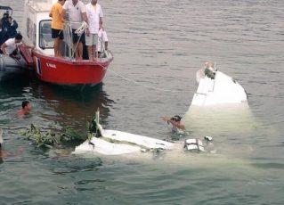 Avião em que estava Teori Zavascki cai em Paraty. Foto: Reprodução/Twitter Aeroagora