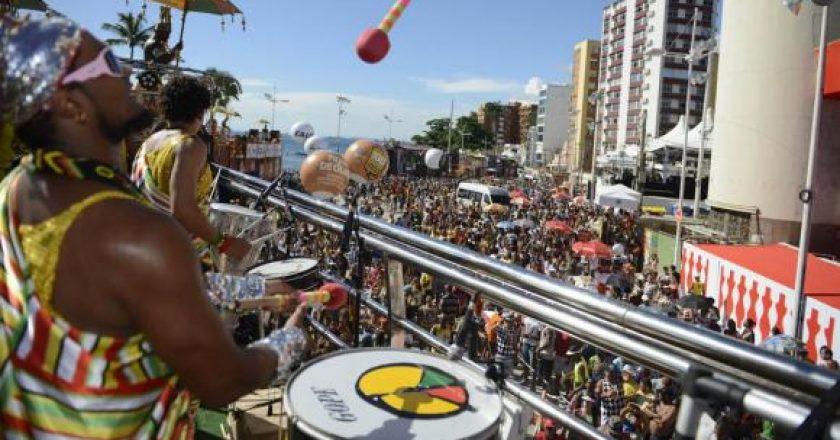 Olodum, no Carnaval de Salvador. Foto: Agência Brasil