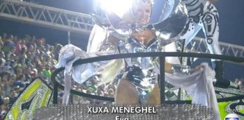 Xuxa no desfile da Grande Rio. Foto: Reprodução de TV