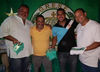 Caribé, Presidente Tê, Luã Teles e Sandro Gomes. Foto: Imprensa Império da Tijuca