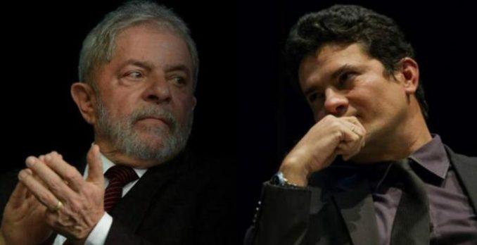 Lula e Sérgio Moro. Foto: Divulgação
