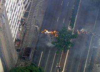 Greve geral - São Paulo. Foto: Reprodução de TV