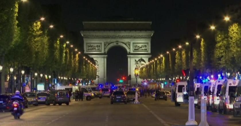Tiroteio em Paris. Foto: Reprodução de TV