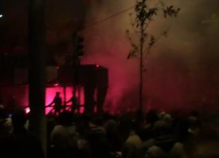 Protesto em frente à casa do presidente Michel Temer. Foto: Reprodução de Internet