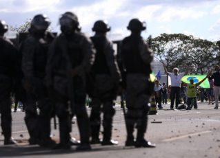 Confrontos em Brasília. Foto: Marcelo Camargo/Agência Brasil