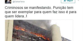 Ministro comete gafe ao publicar foto antiga atribuindo protestos em Brasília. Foto: Reprodução de Internet