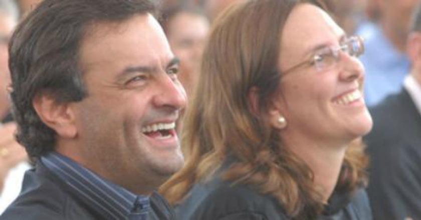 Aécio e Andrea Neves. Foto: Divulgação
