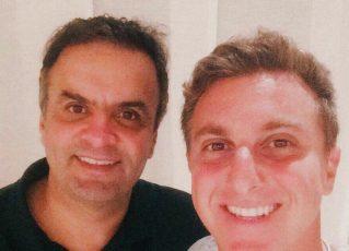 Aécio Neves e Luciano Huck. Foto: Reprodução/Facebook
