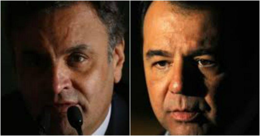 Aécio Neves e Sérgio Cabral. Fotos: Divulgação