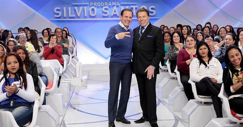 João Doria e Silvio Santos. Foto: SBT