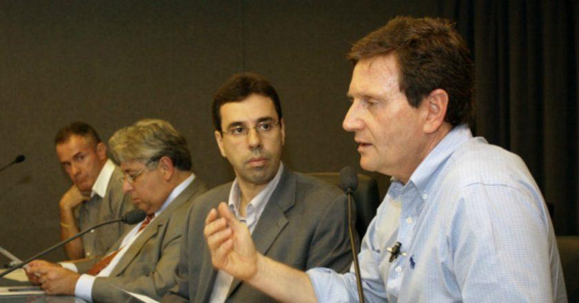 Jorge Castanheira e Marcelo Crivella. Foto: Divulgação/Liesa