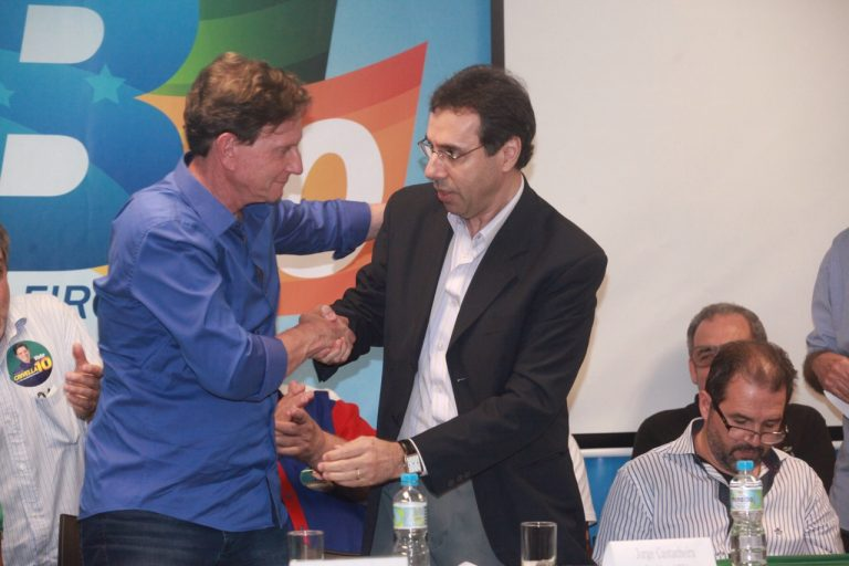 Marcelo Crivella e Jorge Castanheira. Foto: Divulgação/PRB
