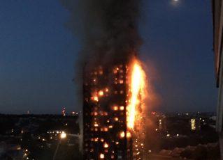 Incêndio em Londres. Foto: Reprodução/Twitter London Fire Brigade