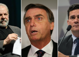 Lula, Bolsonaro e Moro. Fotos: Agência Brasil