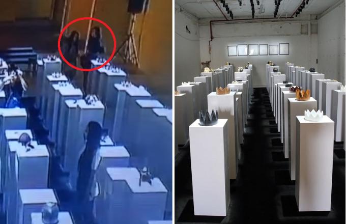 Tentativa de selfie em museu causa prejuízo de 700 mil. Foto: Reprodução