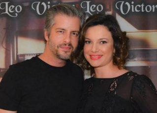 Victor e a ex-mulher Poliana. Foto: Divulgação