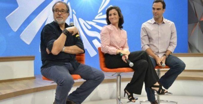 Luiz Nascimento, Renata Vasconcellos e Tadeu Schmidt. Foto: Divulgação