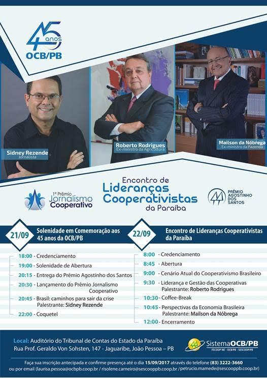 Encontro Cooperativista na Paraíba. Foto: Divulgação
