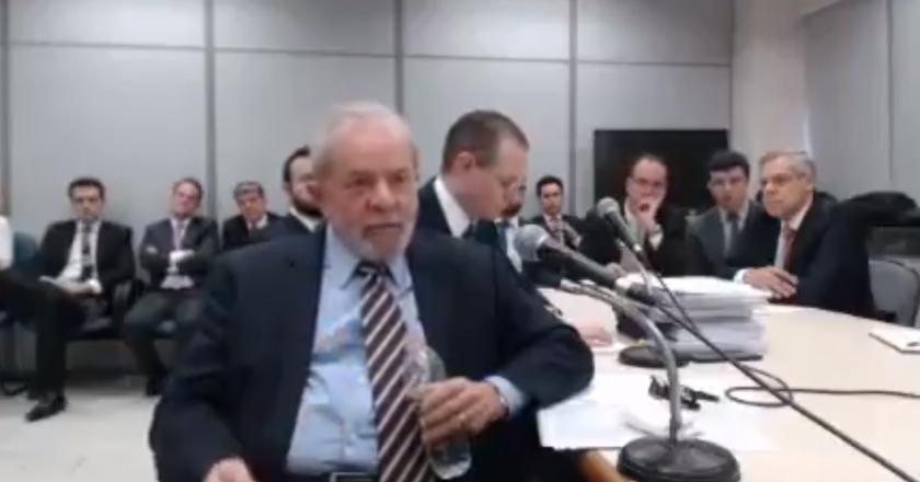 Lula em depoimento. Foto: Reprodução de Internet