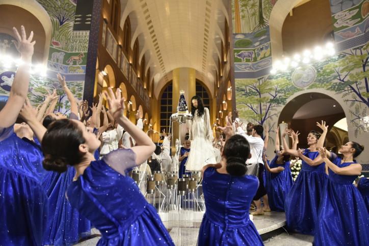 Coroação de Nossa Senhora. Foto: Thiago Leon/Fotos Públicas