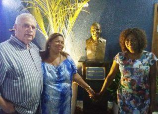 Inauguração do busto de Marcos Falcon na Portela. Foto: Raphael Perucci - Divulgação