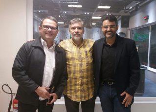 Sidney Rezende, Filipe Melo e Cristiano Santos. Foto: Arquivo Pessoal