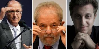 Geraldo Alckmin, Lula e Luciano Huck. Foto: Reprodução de Internet