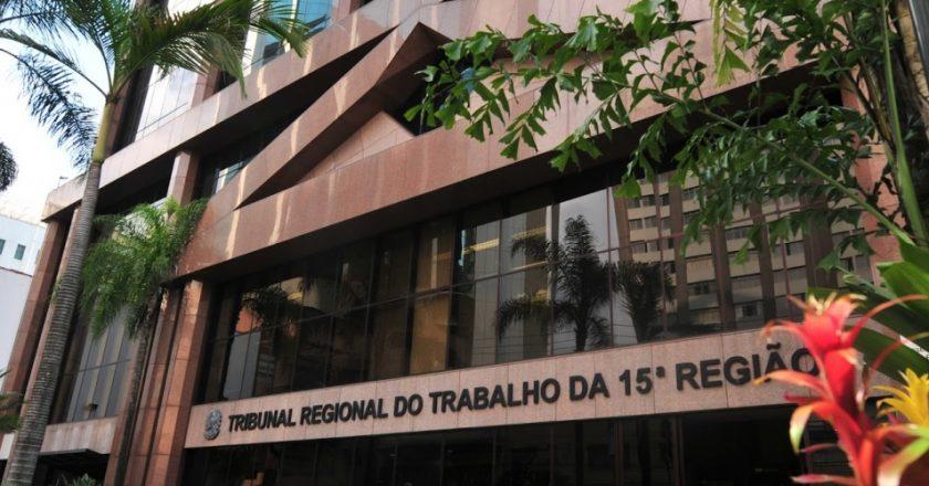 Tribunal Regional do Trabalho da 15ª Região. Foto: Divulgação