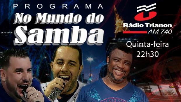 Programa No Mundo do Samba. Foto: Arte