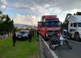 Suspeito do roubo do caminhão de Gusttavo Lima. Foto: Reprodução/PRF
