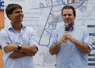 Pedro Paulo e Eduardo Paes. Foto: Tânia Rego/Agência Brasil