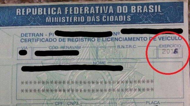 Documento rasurado. Foto: Divulgação/PRF CE