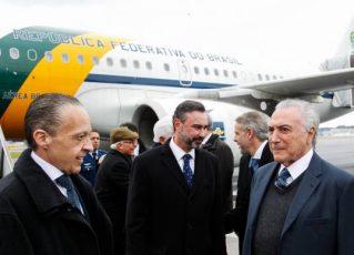 Michel Temer desembarca na Suíça. Foto: Beto Barata/PR