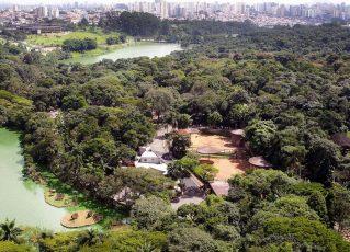 Vista aérea do Zoológico de São Paulo. Foto: Divulgação