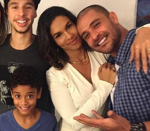 Milena, Diogo Nogueira e família. Foto: Facebook