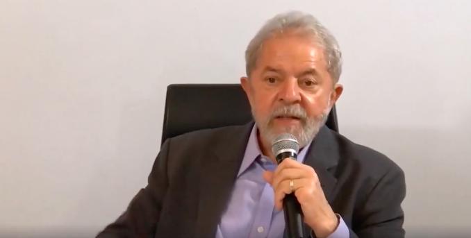 Luiz Inácio Lula da Silva. Foto: Reprodução de vídeo