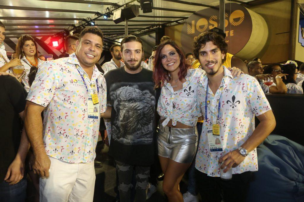 Ronaldo, DJ Alesso, Carol Sampaio e Gabriel David . Foto: RT Fotografia/ Brazil News/ CS Eventos Divulgação
