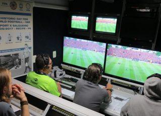 Unidade móvel do árbitro de vídeo. Foto: CBF