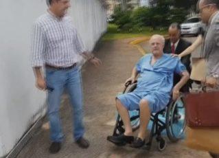 Maluf chega a São Paulo para cumprir prisão domiciliar. Foto: Reprodução de TV