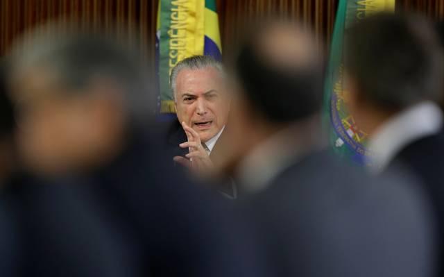 Michel Temer em reunião no Palácio do Planalto. Foto: Reprodução de Internet