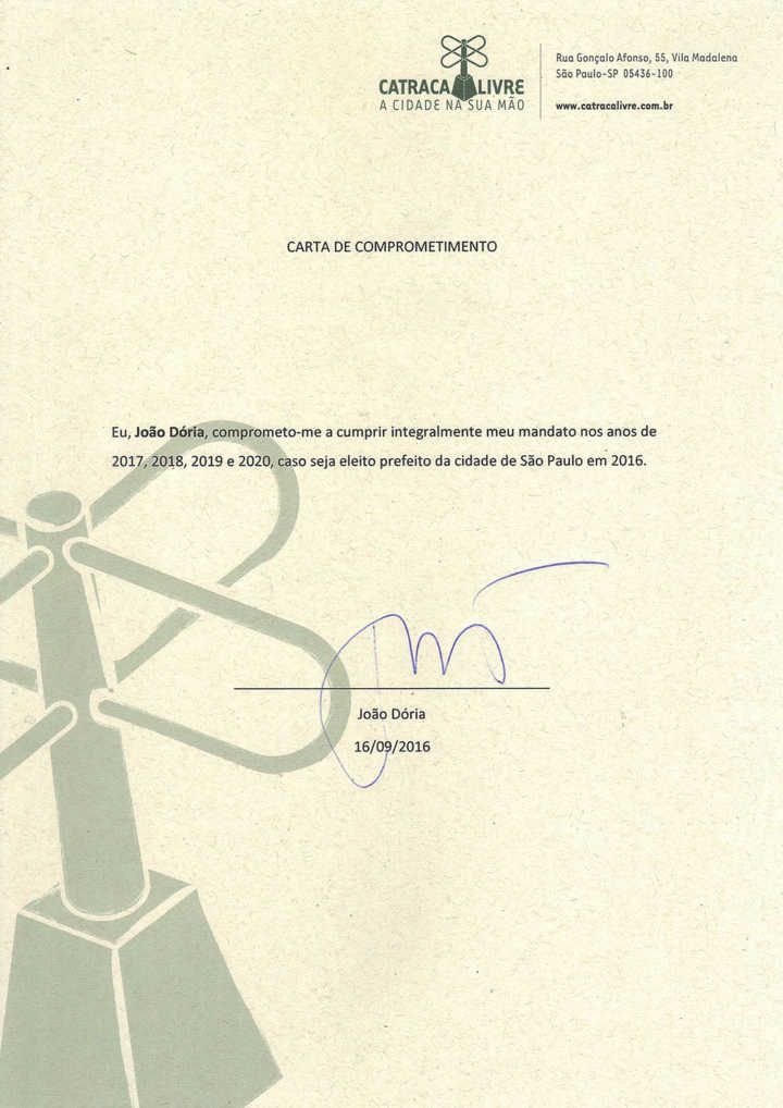 Documento assinado por João Doria. Foto: Reprodução