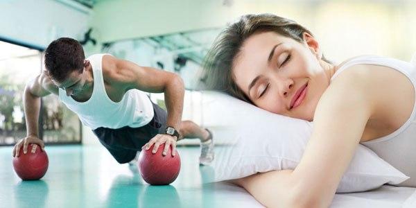 Exercício físico e boa noite de descanso. Foto: Reprodução de Internet