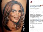 Jovem gasta três meses de salário para tatuar rosto de Ivete Sangalo na perna. Foto: Reprodução de Internet