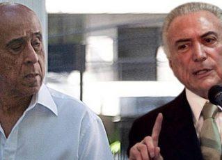 João Baptista Lima Filho e Michel Temer. Foto: Reprodução de Internet