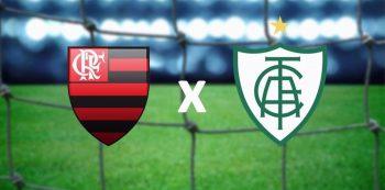 Flamengo x América-MG. Foto: Reprodução