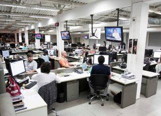 Redação do jornal Agora foi integrada à da Folha. Foto: Reprodução/Facebook jornal Agora