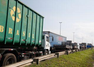 Paralisação dos caminhoneiros. Foto: Tânia Rêgo/Agência Brasil