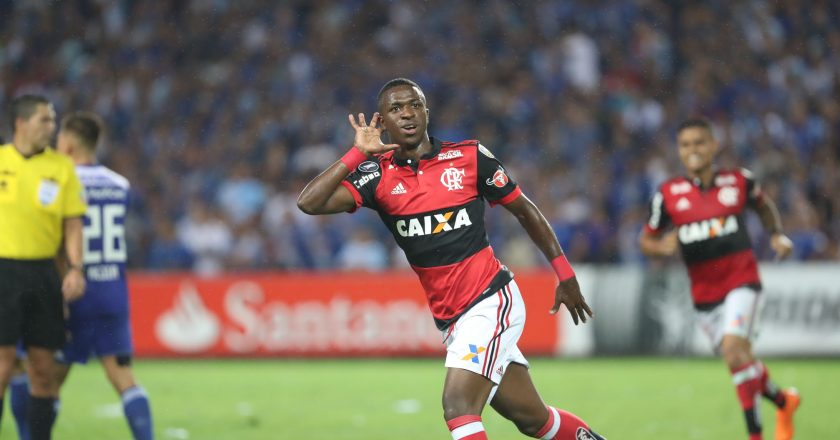 Vinicius Junior. Foto Gilvam de Souza/Flamengo