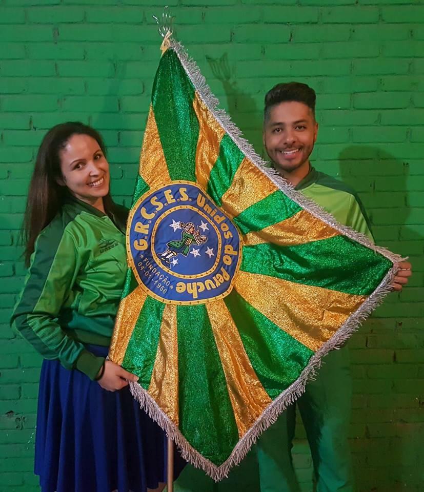 Thais Paraguassú e Jefferson Antônio. Foto: Divulgação/Unidos do Peruche